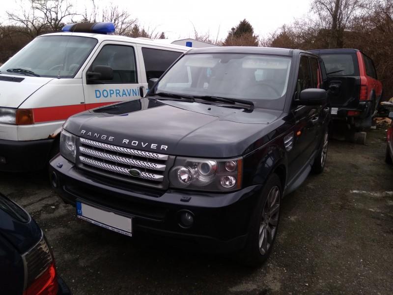 Dražba automobilu Land Rover, rok 2008
