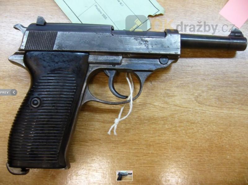 Dražba samonabíjecí pistole Mauser P38 9 mm Luger